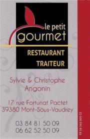 Le petit gourmet : Restaurant - Traiteur à Mont sous Vaudrey